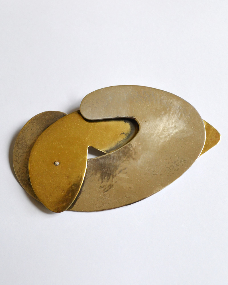 Brooch in silver and bronze