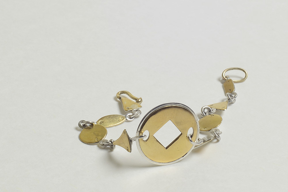 Bracelet in silver and gold